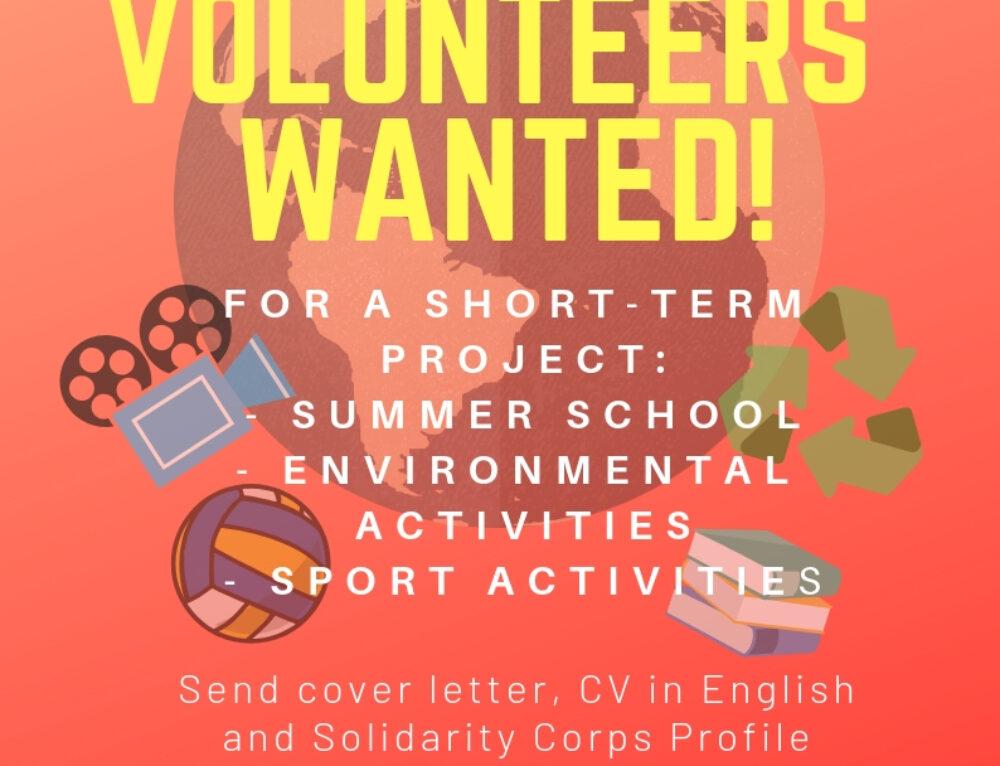 Proyecto de Voluntariado para este verano en Italia
